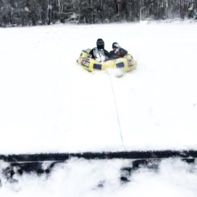This is a tube meant for the lake...